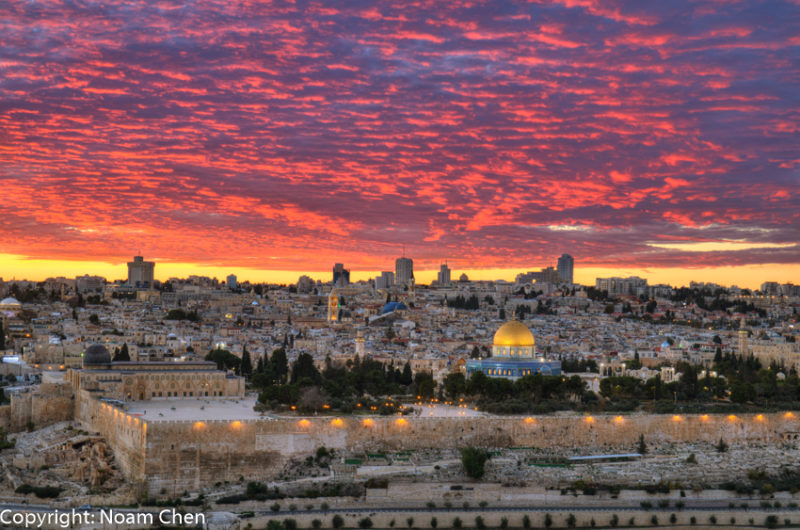 089A6312 - Glorious sunset from Mount of Olives